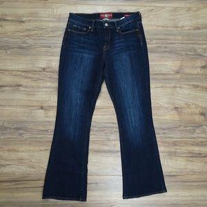 Lucky Brand Sofia Boot Dark Wash Blue Jeans